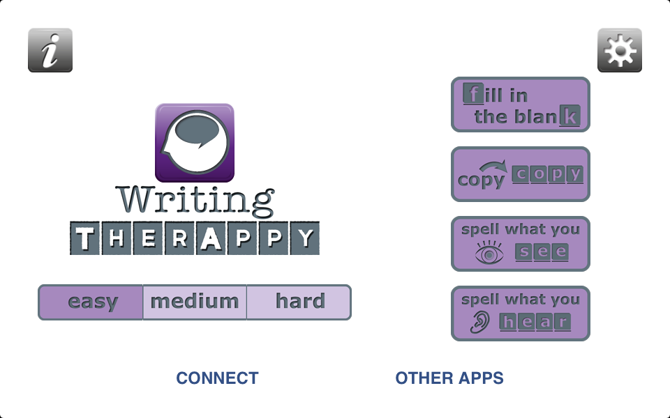 Writing TherAppy - Educational App